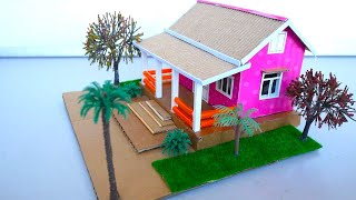 How To Make A Simple Cardboard Dollhouse With Beautiful Garden