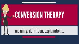 What is CONVERSION THERAPY? What does CONVERSION THERAPY mean? CONVERSION THERAPY meaning
