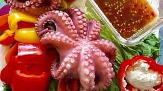 Ăn bạch Tuộc Hấp và Ớt chuông cùng Marry Phan ( Sound Eating Octopuses)