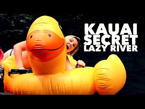 A DAY ON KAUAI | SECRET NATURAL LAZY RIVER