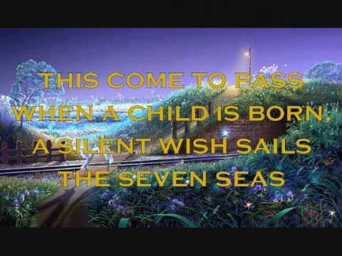 When A Child Is Born With Lyrics.Video Design; Lyn Alejandrino Hopkins