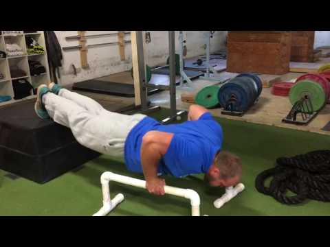 Depth Push-up (feet elevated)