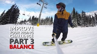 #17 Snowboard intermediate – Improve your snowboarding, part 3 (balance)