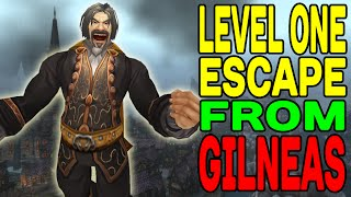 World of Warcraft: ESCAPE from Gilneas at LEVEL ONE !!!