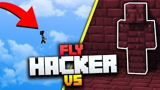 I AM STONE CHALLENGE vs FLY HACKERS! | Minecraft MONEY WARS