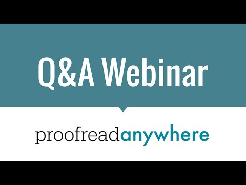 Q&A Webinar with Caitlin Pyle of Proofread Anywhere - YouTube