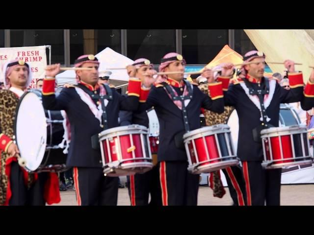 تحدي بين موسيقات القوات المسلحة الاردنية وبين الموسيقات العسكرية البريطانية