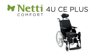 Polohovací invalidní vozík Netti 4U CE Plus