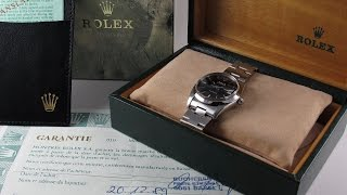 Steel Rolex Oyster Date Precision Ref. 6694 vintage wristwatch, sold in 1989