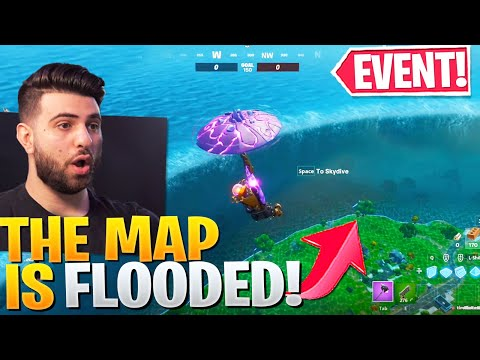 the map is flooded insane fortnite season event fortnite the device event reaction