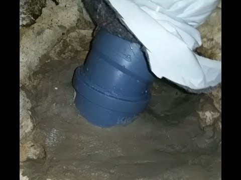 HT Rohr an Steinzeugrohr / Tonrohr ohne Gummiadapter mit Racofix und Denso Flex anbinden