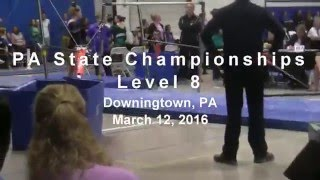 Brenna competes in Level 8 PA State Championships