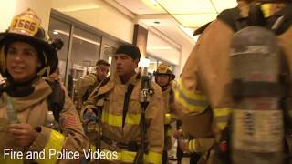 Raw Footage of Albuquerque Firefighters and Rescue Descending Down Stairs in Full Bunker Gear