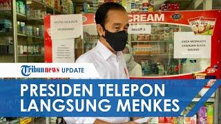 Jokowi Blusukan Cek Obat Covid-19 di Apotek Bogor, Langsung Telepon Menkes karena Semua Obat Kosong