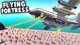 SPECTRE Gunship AC-130 Flying Fortress!  (Ravenfield Mod Gameplay)
