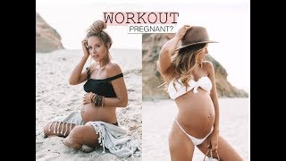 Pregnancy workout. Working out at 8 Months Pregnant. Fit Pregnancy. Ivy Carnegie
