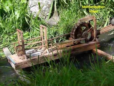 Mühlenmodell  Ausstellung in Eichelsachsen während der Offenen Gartenpforte 2017