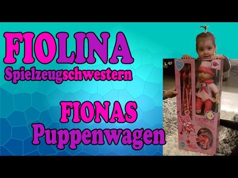 Fiona bekommt ein Puppenwagen-Kombi-Set mit Puppe und Besteck - Unboxing Deutsch Fiolina