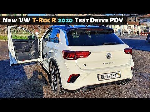 New VW T-ROC R Test Drive 2020 POV l 300 HP l Great City SUV