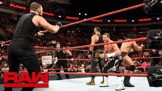 The Shield Attack Braun Strowman, Drew McIntyre & Dolph Ziggler: Raw, Sept. 3, 2018