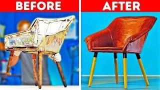 FURNITURE DIY RENOVATION || 24 Ways To Upcycle Old Stuff