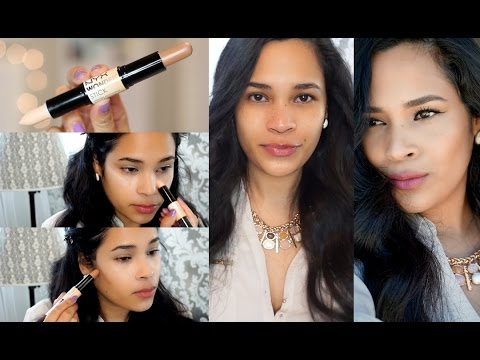 NYX Wonder Stick Demo – Natural Contour & Highlighting Talk Through – MissLizHeart
