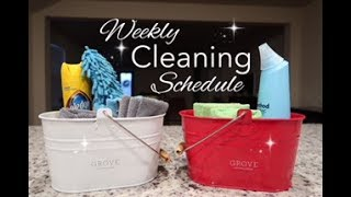 WEEKLY CLEANING SCHEDULE 2019/WORKING MOM CLEANING SCHEDULE