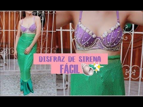 Disfraz de sirena sin coser en 30 min-♥Angy