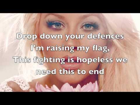 Christina Aguilera - Cease Fire Lyrics (Full)