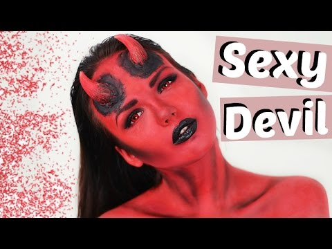 SEXY TEUFEL Halloween Make Up | ViktoriaSarina