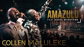 "Amazulu is the 1st single from Collen's upcoming album ""Face 2 Face""  Click to stream Amazulu: https://Spirit-Music.lnk.to/amazuluID  Lyrics & Tranlation: Amazulu no mhlaba  (The heavens and the earth) ababaza igama lakho (Proclaim your name) Athi uphakeme (Declaring you are exalted)    Izingelosi nathi abantwana bakho  (The angels and we your children) sibabaza ubuhle bakho  (We proclaim your name) sithi uyingcwele (We say you are HOLY)   Bayede bayede  (Hail the king) sithi bayede kuwe ngonyama (We say oh hail the great Lion) Uphakeme uphakeme  (You are exalted you are exalted) sithi uphakeme we mhlekazi (We say you're exalted oh great king)   Sibabaza igama lakho  (We exalt your name) sibabaza amandla akho (We exalt Your power) We mhlekazi  (Oh great king)    Click to watch more videos from Spirittunez:  Spirit Of Praise 1 ► http://bit.ly/2vGIvLW Spirit Of Praise 2 ► http://bit.ly/2P8c9BW Spirit Of Praise 3 ► http://bit.ly/2w6KfgT Spirit Of Praise 4 ► http://bit.ly/2MJuvYl Spirit Of Praise 5 ► http://bit.ly/2MmAIwi Spirit Of Praise 6 ► http://bit.ly/2MlEplW Spirit Of Praise 7 ► http://bit.ly/2MmJ0UU   Follow on: Facebook: https://www.facebook.com/SpiritOfPraiseZA Instagram: https://www.instagram.com/1spiritofpraise Twitter: https://twitter.com/1SpiritOfPraise  #AmazuluSong #CollenMaluleke #KhayaMthethwa #SpiritOfPraise"