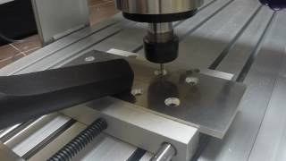First Aluminium dry milling with CNC 6040