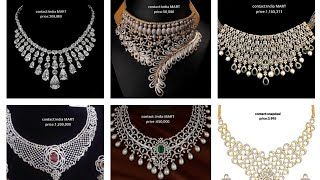 Indian Diamond Necklace With Price.india MART Diamonds Collection