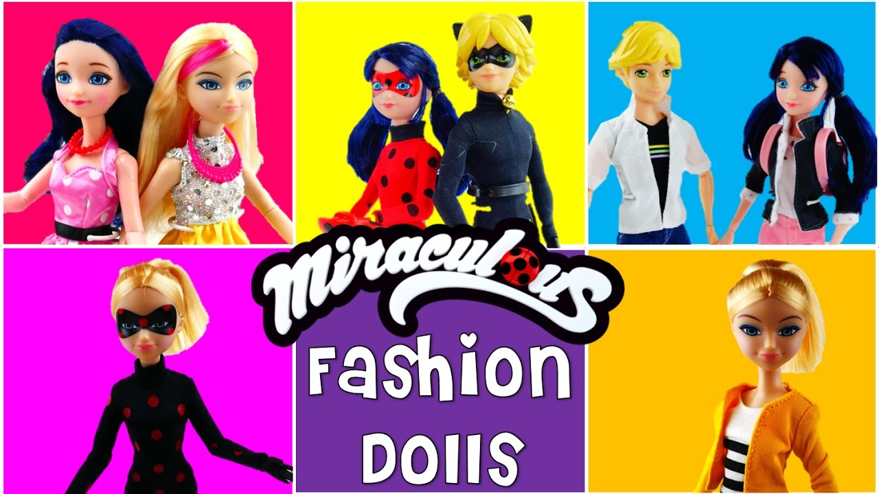 Compilation - Miraculous Ladybug Fashion Dolls Marinette Chloe Antibug Adrien Ladybug