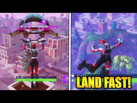HOW TO LAND FASTER in FORTNITE BATTLE ROYALE!