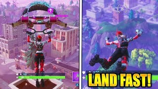 HOW TO LAND BEFORE ANYONE FORTNITE HOW TO LAND FASTER in FORTNITE BATTLE ROYALE!