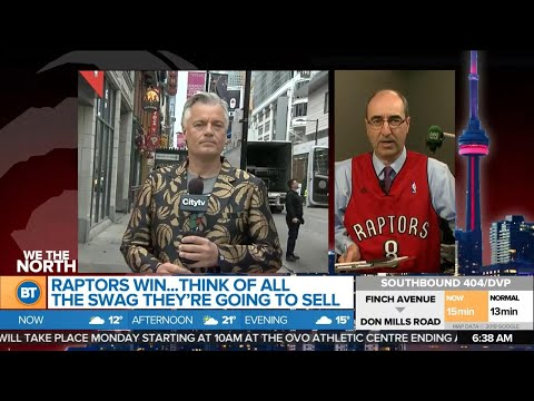 Celebrating the Raptors win with swag, and other top business news