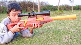 Nerf War Sniper Gun Battle Shot 2 | Đồ Chơi Bắn Súng Nerf Cuộc Chiến Siêu Súng Ngắm 2