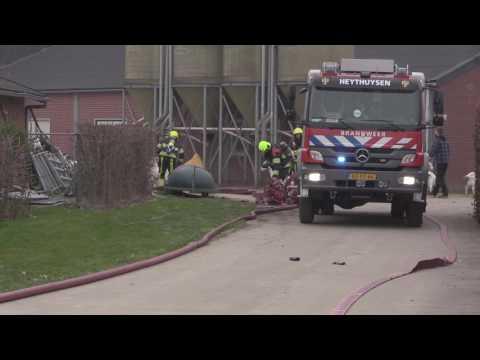 Geiten gered uit brandende stal in Leveroy