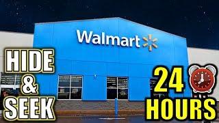 24 HOUR OVERNIGHT HIDE AND SEEK CHALLENGE IN WALMART **PART 2**
