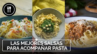 Las mejores SALSAS para acompañar PASTA: Salsa carbonara, pesto y boloñesa