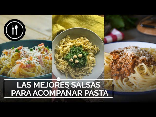 Las mejores SALSAS para acompañar PASTA: Salsa carbonara, pesto y boloñesa