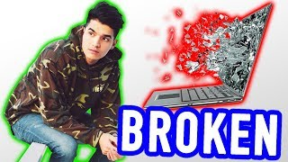 SMASHED My $3000 Laptop! *destroyed*