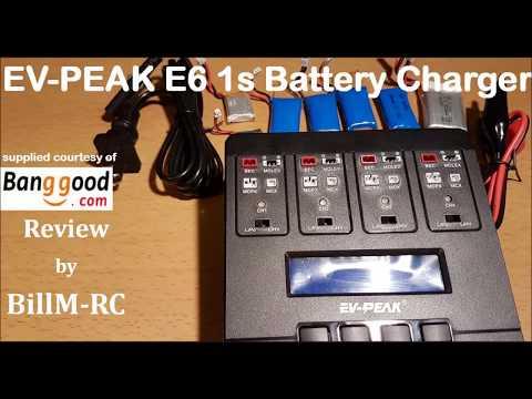 EV PEAK E6 1s Lipo battery charger review
