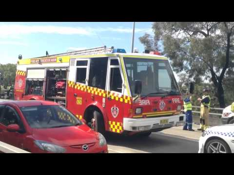 Nsw emergency services at car crash