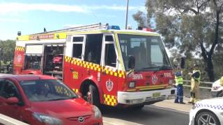 Nsw Emergency Services At Car Crash