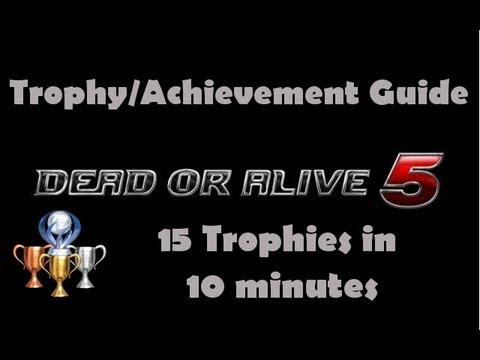 Dead Or Alive 5: 15 Trophies/Achievements in 10 minutes ~ Gameplay ~{HD}