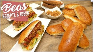 Hot Dog 🌭 Brötchen selber machen | Rezept für gute Hot Dog Buns