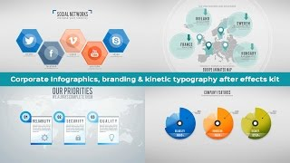 6 included animated maps after effects template corporate branding kinetic typography and infographics after effects package sciox Images