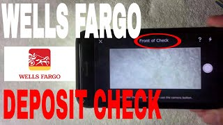 ✅  How To Mobile Deposit Check With Wells Fargo Mobile App 🔴